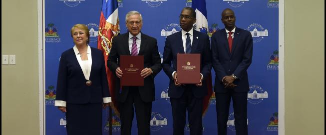 Chile Firma Convenio De Cooperacion Con Haiti Para El Reconocimiento