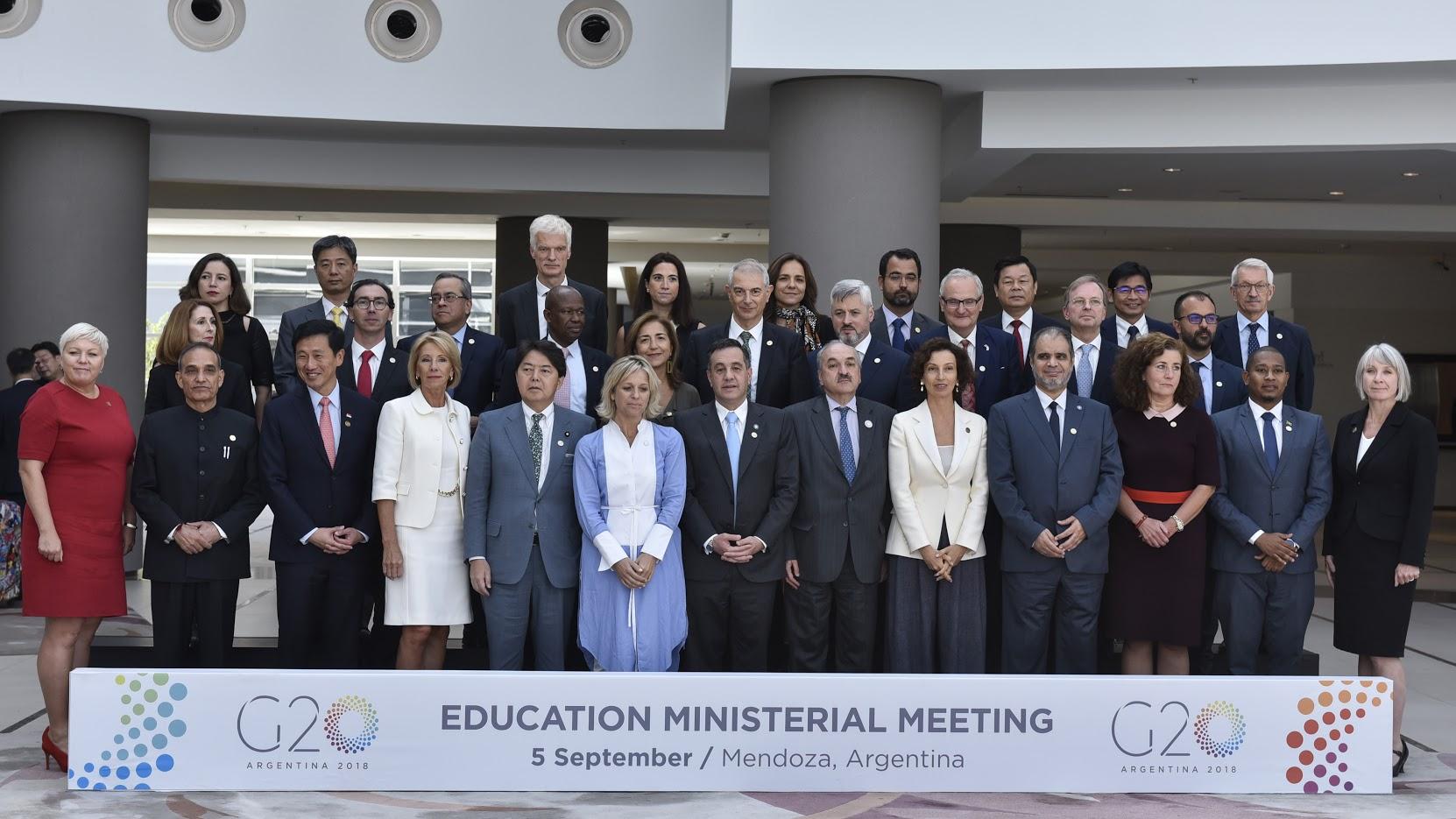 encuentro de ministros de Educación del G20